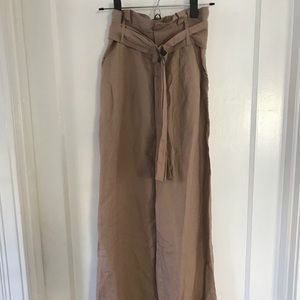 NWOT Forever 21 tan linen pants size S